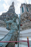 Estátua chinesa do guerreiro em Wat Arun Fotos de Stock Royalty Free