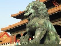 Estátua chinesa do leão Imagem de Stock