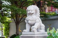 Estátua chinesa do leão Fotografia de Stock