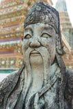 Estátua chinesa no templo, Banguecoque Imagem de Stock Royalty Free