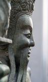 Estátua chinesa no templo budista, Banguecoque Fotografia de Stock