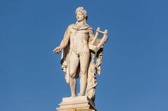 Estátua clássica de Apollo Foto de Stock