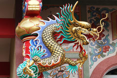 Estátua colorida do dragão Imagem de Stock Royalty Free