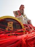 A estátua colorida no templo do 'batata doce' de Kwun Fotos de Stock