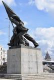 Estátua comunista da era em Riga Imagens de Stock