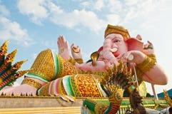 Estátua cor-de-rosa do ganesha no parque de Siamganesh fotos de stock