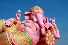 Estátua cor-de-rosa grande de Ganesha Fotos de Stock