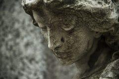 Estátua cristã da mulher no cemitério ou no Recoleta Imagens de Stock Royalty Free