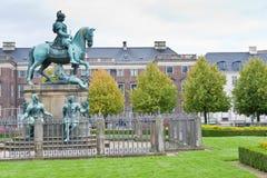 Estátua cristã de V em Kongens Nytorv em Copenhaga fotografia de stock royalty free