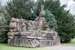Estátua cristã velha em Baden-Baden fotos de stock royalty free