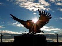 Estátua da águia americana imagem de stock