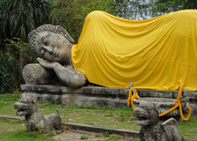 Estátua da Buda, cidade antiga, Tailândia Fotos de Stock Royalty Free