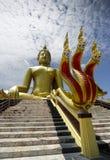Estátua da Buda com Naga Fotografia de Stock