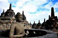 Estátua da Buda de Borobudur imagem de stock royalty free