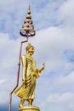 Estátua da Buda do suporte foto de stock