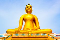 Estátua da Buda, estátua dourada grande da Buda em Tailândia Imagens de Stock