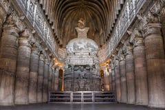 A estátua da Buda em Ajanta cava perto de Aurangabad Imagens de Stock Royalty Free