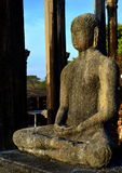 Estátua da Buda em Medirigiriya Vatadageya, Sri Lanka Imagens de Stock Royalty Free