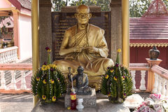 Estátua da Buda em tailandês do norte fotos de stock