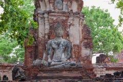 Estátua da Buda em Wat Mahathat, Tailândia Fotos de Stock Royalty Free