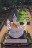 Estátua da Buda em Wat Yai Chai Mongkol, Ayuttaya, Tailândia Fotografia de Stock Royalty Free