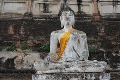 Estátua da Buda em Wat Yai Chai Mongkon Imagens de Stock Royalty Free