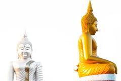 Estátua da Buda goldtone Foto de Stock