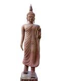 Estátua da Buda na ação da caminhada Fotos de Stock Royalty Free