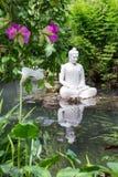 Estátua da Buda no jardim de Andre Heller Imagens de Stock Royalty Free