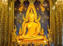 Estátua da Buda no pitsanuloke de Wat Prasrimahathad em Tailândia Fotografia de Stock