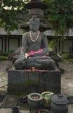 Estátua da Buda no templo de Borobudur em Jogja, Indonésia Foto de Stock Royalty Free
