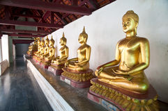 Estátua da Buda no templo de Wat Phra Si Rattana Mahathat em Tailândia Imagens de Stock