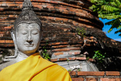 Estátua da Buda no templo de Wat Yai Chai Mongkhon, cidade de Anclent de A Fotos de Stock