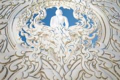 Estátua da Buda no templo do khun do rong de Wat Imagem de Stock