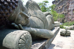 Estátua da Buda no thiland imagem de stock