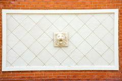 Estátua da cabeça do leão Fotografia de Stock
