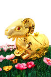 Estátua da cabra pelo ano novo chinês 2015 Fotos de Stock Royalty Free