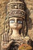 Estátua da cara Imagens de Stock Royalty Free