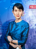Estátua da cera de Aung San Suu Kyi Fotografia de Stock