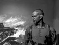 Estátua da cera de Bruce Willis - Kanyakumari, Índia imagens de stock royalty free