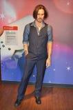 Estátua da cera de Johnny Depp imagem de stock royalty free