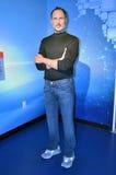Estátua da cera de Steve Jobs imagens de stock