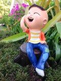 Estátua da criança Fotos de Stock Royalty Free