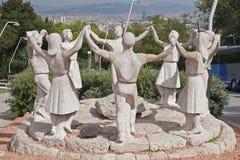 Estátua da dança de Sardana imagem de stock