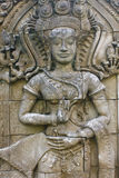 Estátua da escultura no templo, Tailândia. Fotos de Stock