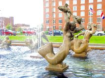 Estátua da fonte de Milles Fotografia de Stock Royalty Free