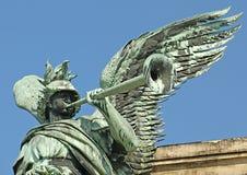 A estátua da guerra imagem de stock