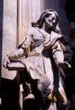 Estátua da igreja de Praga imagens de stock royalty free