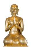 Estátua dourada isolada de buddha Foto de Stock