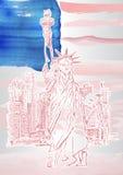 A estátua da liberdade imagens de stock royalty free